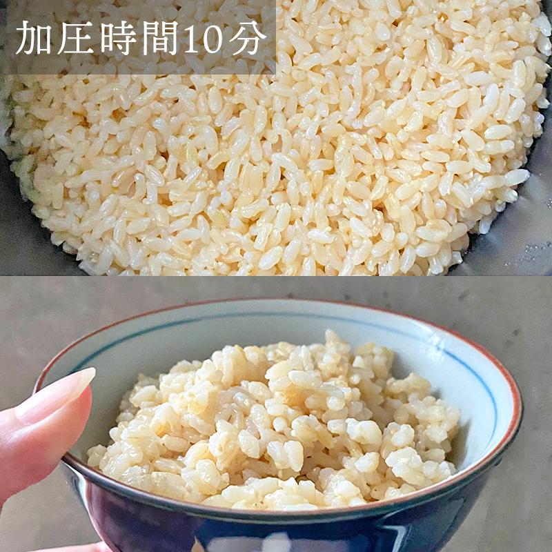 ファンケル発芽米をブルーノの電気圧力鍋で炊いてみたレビュー