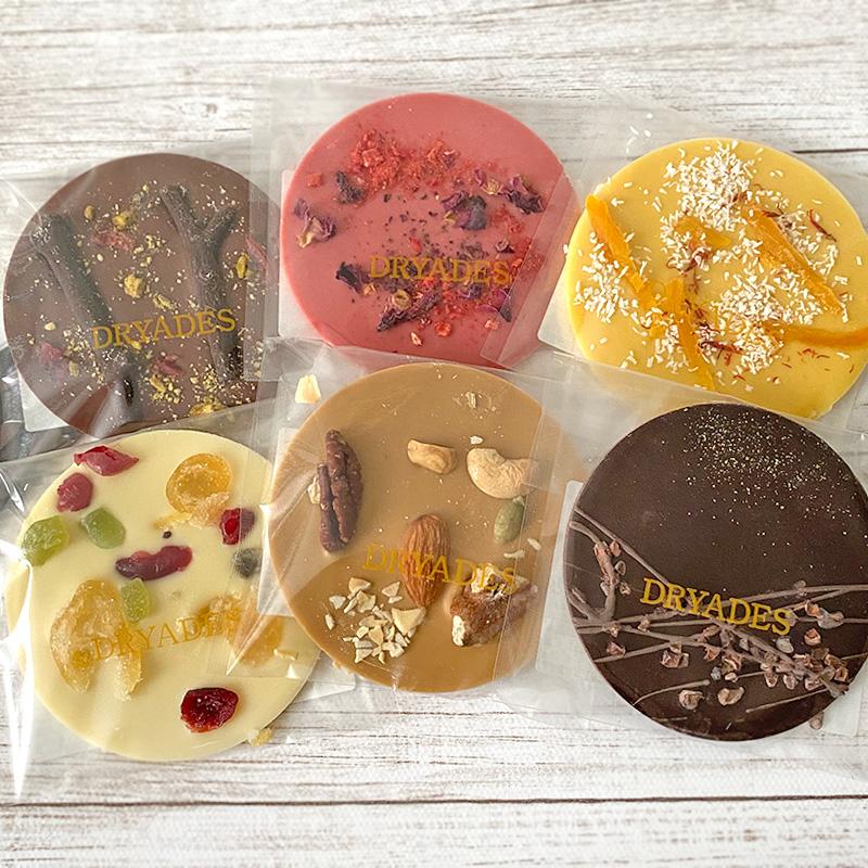 チョコレート専門店DRYADESドリュアデスの風景のディスクチョコレート