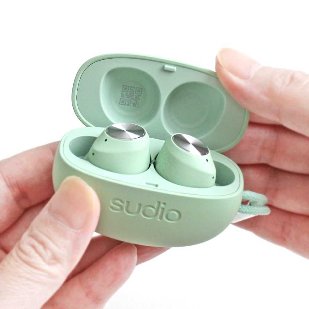 SudioT2スーディオ北欧デザイン高音質完全ワイヤレスアクティブノイズキャンセリングイヤホンミントグリーン開封口コミレビュー